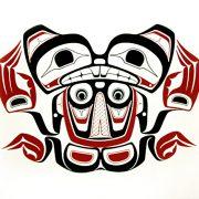 Beaver Swimming Print by Northwest Coast Native Artist Norman Tait