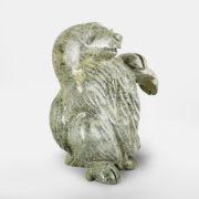 Stone Muskox Sculpture by Inuit Native Artist Kellipalik Qimirpik
