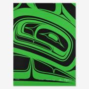 Green Formline Print by Northwest Coast Native Artist Alano Edzerza