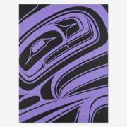Purple Formline Print by Northwest Coast Native Artist Alano Edzerza