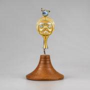 Gold, Platinum, and Abalone Shell Rattle Amulet by Northwest Coast Native Artist Gwaai Edenshaw