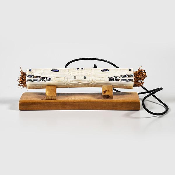 Bone and Cedar Bark Bear Soul Catcher by Northwest Native Artist Derek White