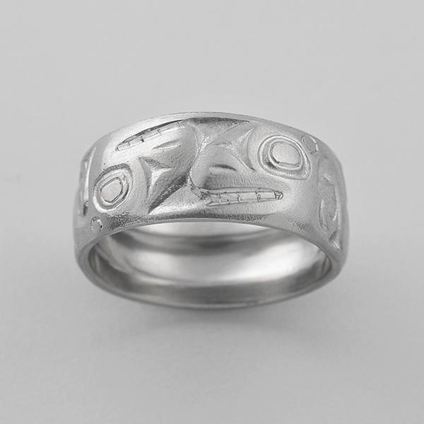 Gold Killerwhale Ring by Northwest Coast Native Artist Gwaai Edenshaw