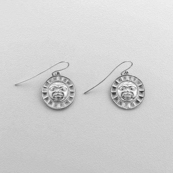Silver Moon Earrings by Northwest Coast Native Artist Philip Janze