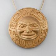 Wood Eagle Moon Amulet by Northwest Coast Native Artist Tom Eneas