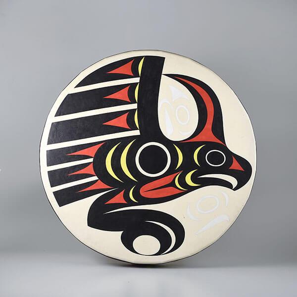 Hide Thunderbird Drum by Northwest Coast Native Artist Maynard Johnny Jr.