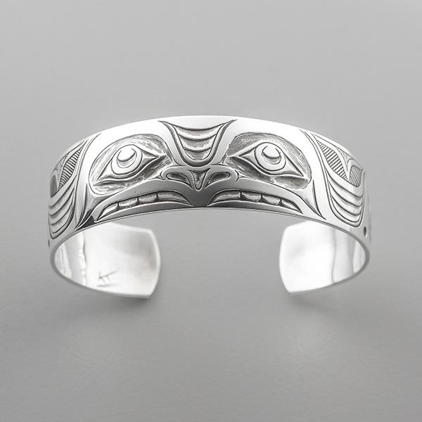 Silver Thunderbird Bracelet by Northwest Coast Native Artist Kelvin Thompson