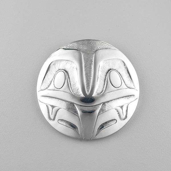 Silver Frog Pendant by Northwest Coast Native Artist Jesse Brillon