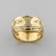 Gold Frog Ring by Northwest Coast Native Artist Philip Janze