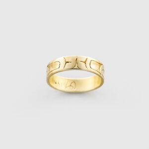 Gold Eagle Ring by Native Artist Carmen Goertzen