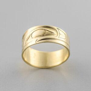 Gold Raven Ring by Northwest Coast Native Artist Ernest Swanson