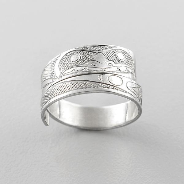 Gold Bear Wrap Ring by Northwest Coast Native Artist James McGuire