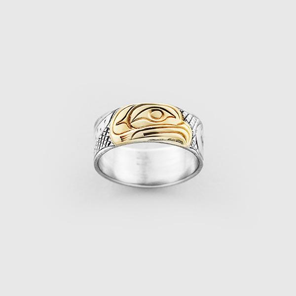Gold Eagle Ring by Native Artist Lloyd Wadhams Jr