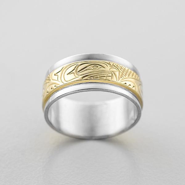 Gold Bear Ring by Northwest Coast Native Artist Lloyd Wadhams Jr.
