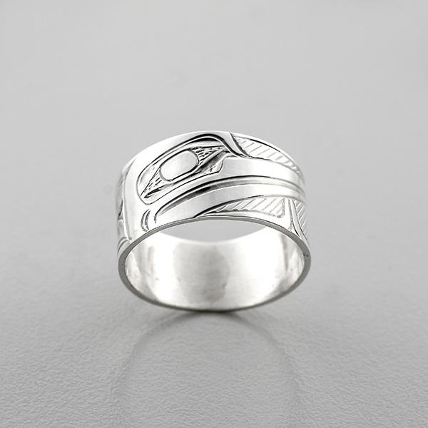 Silver Hummingbird Ring by Northwest Coast Native Artist Henry Green