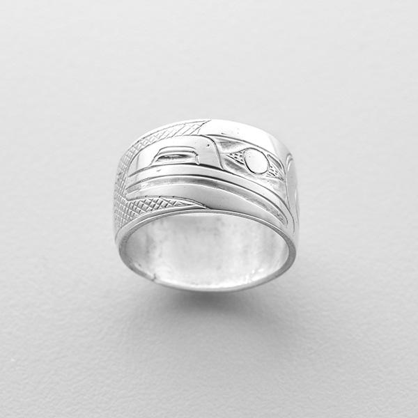 Silver Raven Ring by Northwest Coast Native Artist Henry Green
