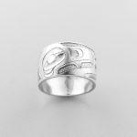 Silver Raven Ring by Northwest Coast Native Artist Alvin Adkins