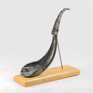 Goat Horn Ladle by Native Artist Elsie John