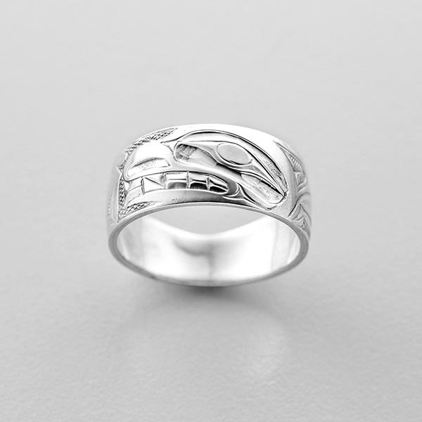 Silver Bear Ring by Northwest Coast Native Artist Allen Thompson