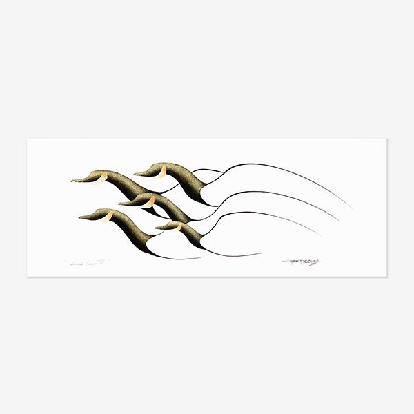 Canada Geese II Original Painting by Plains Native Artist Garnet Tobacco
