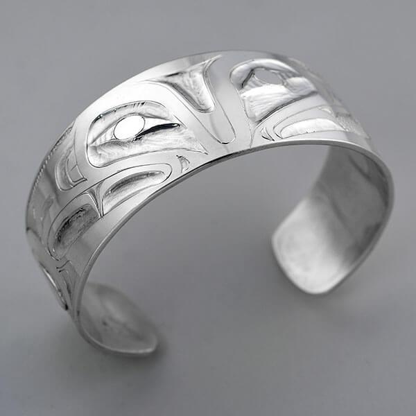 Silver Eagle Bracelet by Northwest Coast Native Artist Alvin Adkins