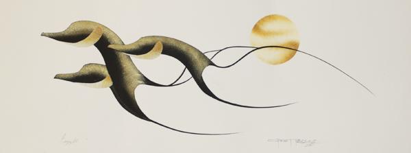 Gaggle Original Painting by Plains Native Artist Garnet Tobacco
