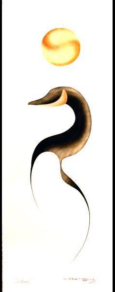 Solitude Original Painting by Plains Native Artist Garnet Tobacco