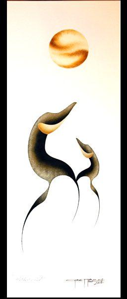 Mother & Child Original Painting by Plains Native Artist Garnet Tobacco