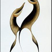Mating Ritual Original Painting by Plains Native Artist Garnet Tobacco
