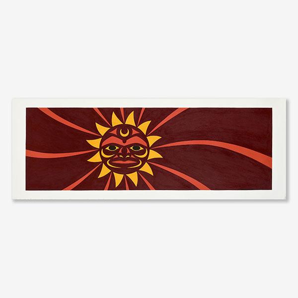 Sunset Original Painting by Northwest Coast Native Artist Maynard Johnny Jr.