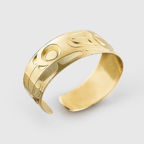 Gold Hummingbird Bracelet by Native Artist Gerry Marks