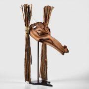 Wood and Bark Shaman Transformation Mask by Northwest Coast Native Artist Ron Telek