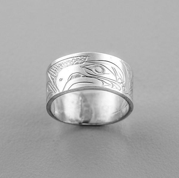 Silver Thunderbird Ring by Northwest Coast Native Artist Don Lancaster