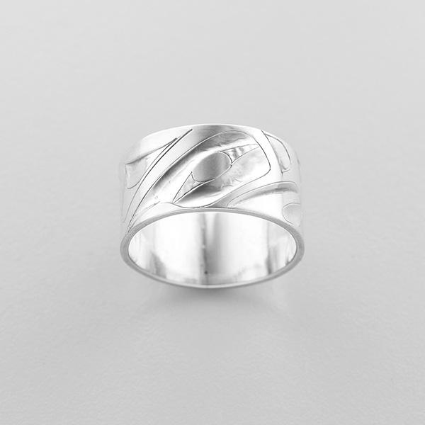 Silver Eagle Ring by Northwest Coast Native Artist Alvin Adkins