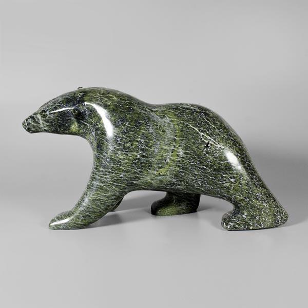 Stone Bear Sculpture by Inuit Native Artist Noah Kelly