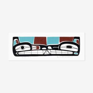 Wolves Original Painting by Northwest Coast Native Artist Ben Houstie