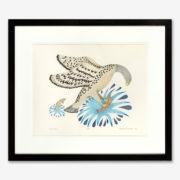 Framed A Fine Catch Print by Inuit Native Artist Peter Malgokak