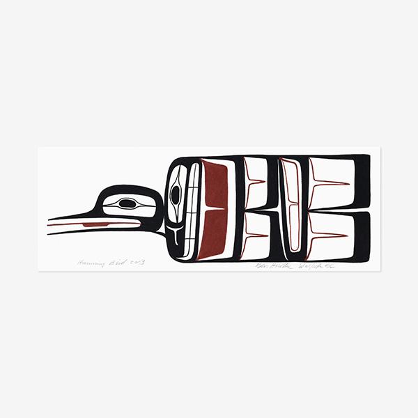 Hummingbird Original Painting by Northwest Coast Native Artist Ben Houstie