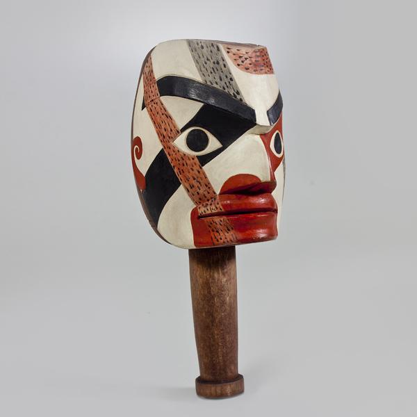 Wood Shaman Rattle by Native Artist Joe David