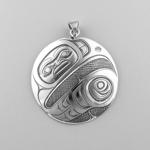 Silver Eagle Pendant by Northwest Coast Native Artist Ernest Swanson