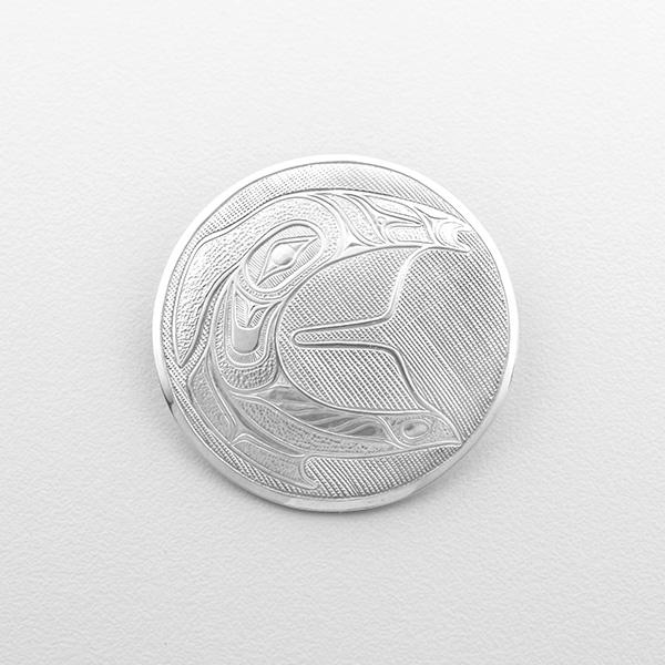Silver C Spirit Pendant by Northwest Coast Native Artist Lyle Wilson