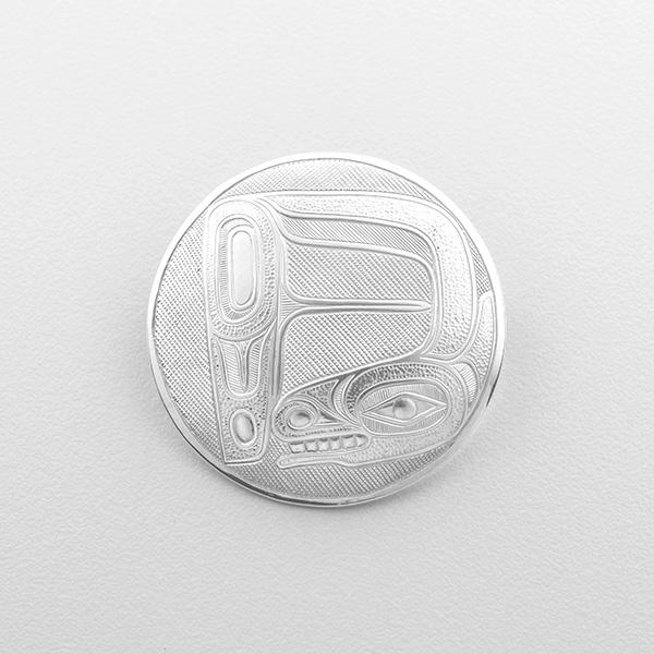 Silver D Spirit Pendant by Northwest Coast Native Artist Lyle Wilson
