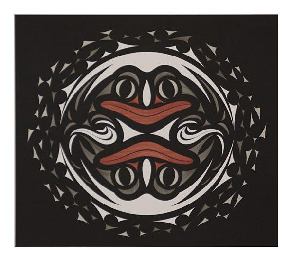 Framed Genesis Print in Grey by Northwest Coast Native Artist Susan Point