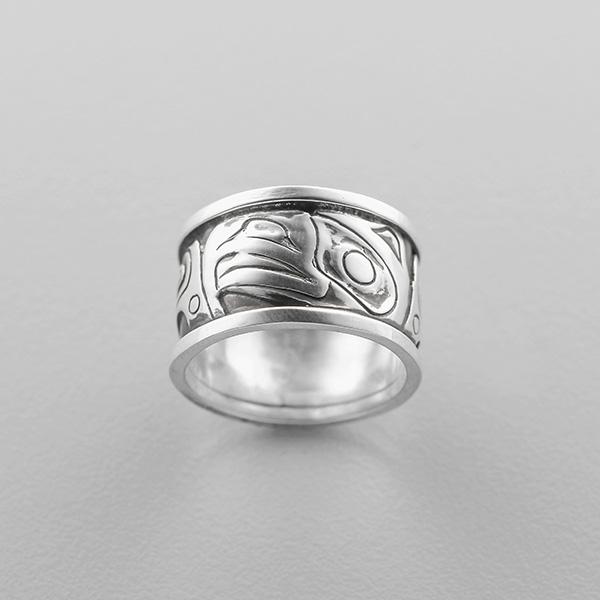 Silver Eagle Ring by Northwest Coast Native Artist Carmen Goertzen