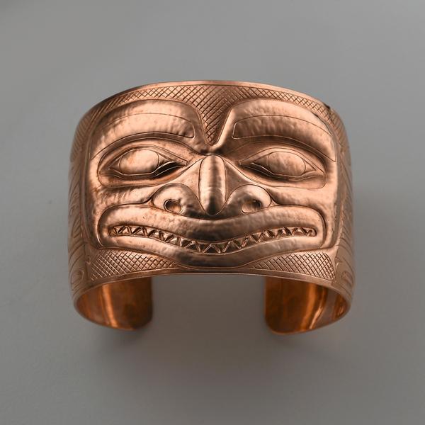Copper Killerwhale Bracelet by Northwest Coast Native Artist Derek White