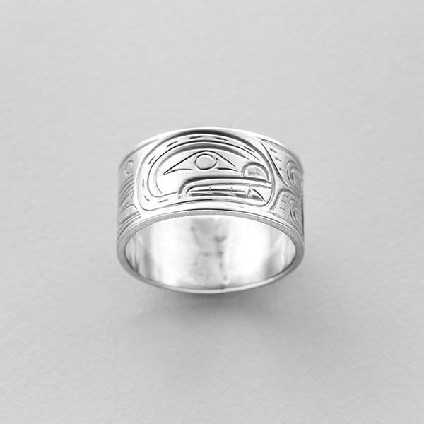 Silver Killerwhale Ring by Northwest Coast Native Artist William (Billy) Cook