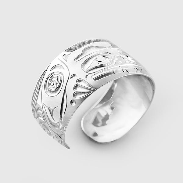 Silver Bear Bracelet by Native Artist Ivan Thomas