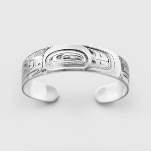Silver Thunderbird Bracelet by Native Artist Ernest Swanson