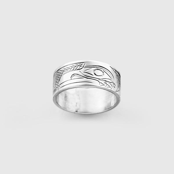 Silver Raven Ring by Northwest Coast Native Artist Don Lancaster