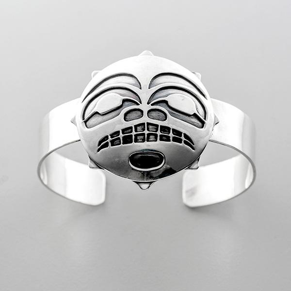 Silver Sun Bracelet by Northwest Coast Native Artist Wayne Wilson